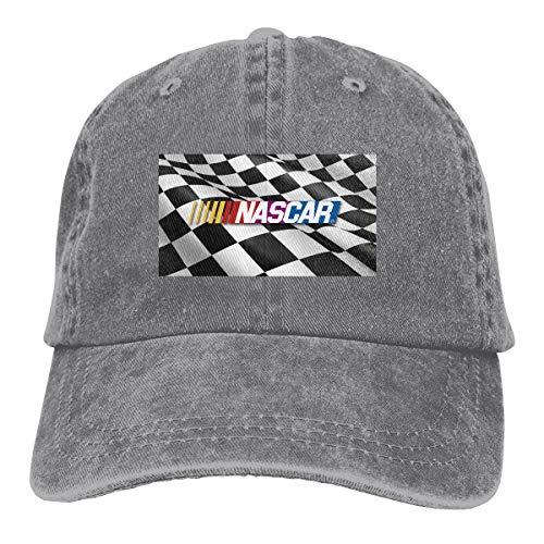 CXZTQIBK Nascar Racing Logo Adjustable Hat Denim Fabric Baseball Caps Gray