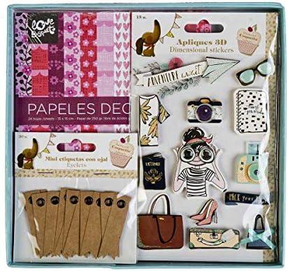 Pack Scrapbooking Papeles Decorados y Etiquetas 2: Amazon.es ...