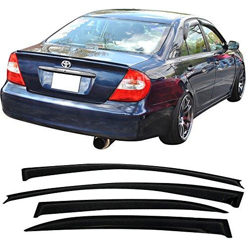 Topline For 2002-2006 Toyota Camry Sun Rain Guard Vent Shade Window Visors V2 4p