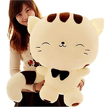 80CM Include Tail Cute Large Face Pusheen Cat Peluche Anime Kawaii Brinquedos Plush Stuffed Toys Juguetes