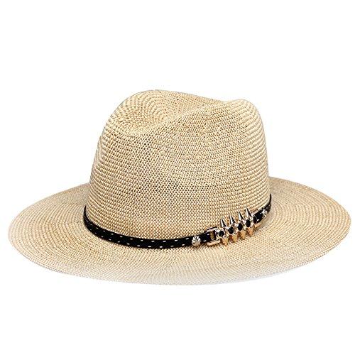 [Women's Summer Beach Cap Foldable Wide Brim Dome Braid Sun Straw Hats Floppy] (Ladies Golf Fancy Dress Costumes)