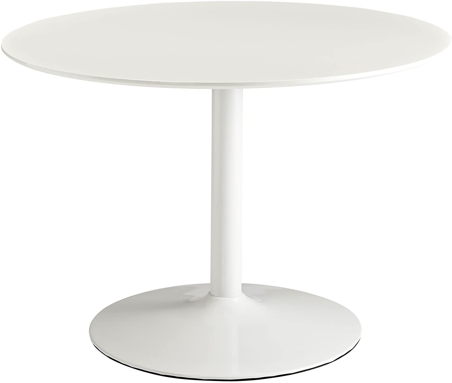 Minimal Round White Pedestal Dining Table