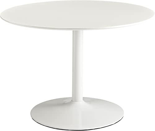 Modway Rostrum Modern 44″ Round Top Pedestal Kitchen and Dining Room Table