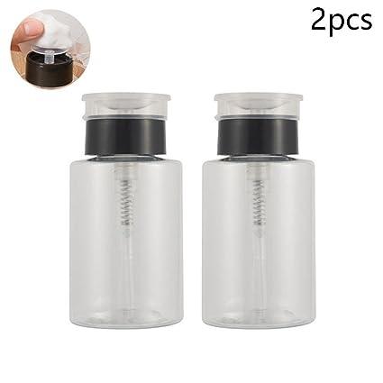 Pawaca - 2 botellas de líquido recargables con bomba de 160 ml, botella de plástico