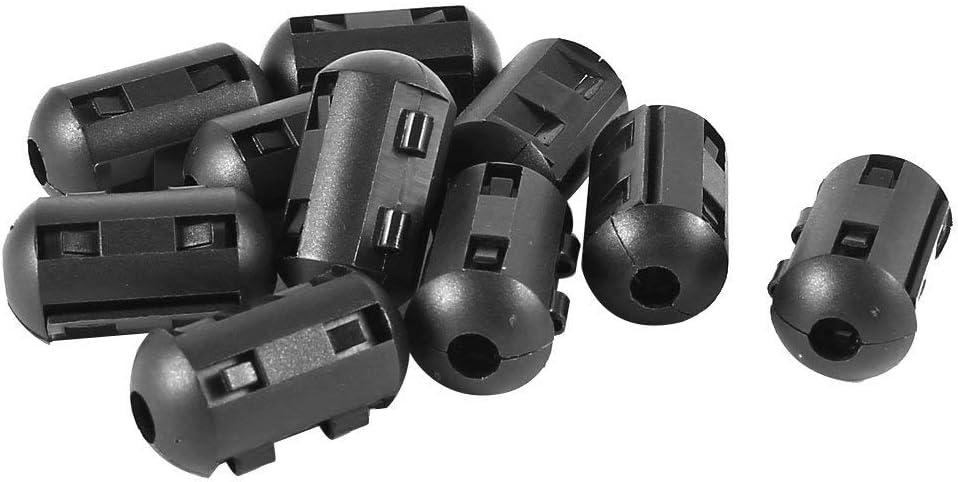 10 St/ücke 6 mm Durchmesser mit Ferritkern Filter Rauschunterdr/ücker Kabelclip