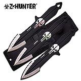 Z-Hunter Punisher Throwing Knives - Set 3 couteaux de lance Trowing knife Biker housse transport # ZB-089-3