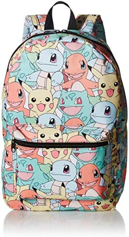 BIOWORLD Pok mon Pastel Kanto Starters All Over Print Backpack