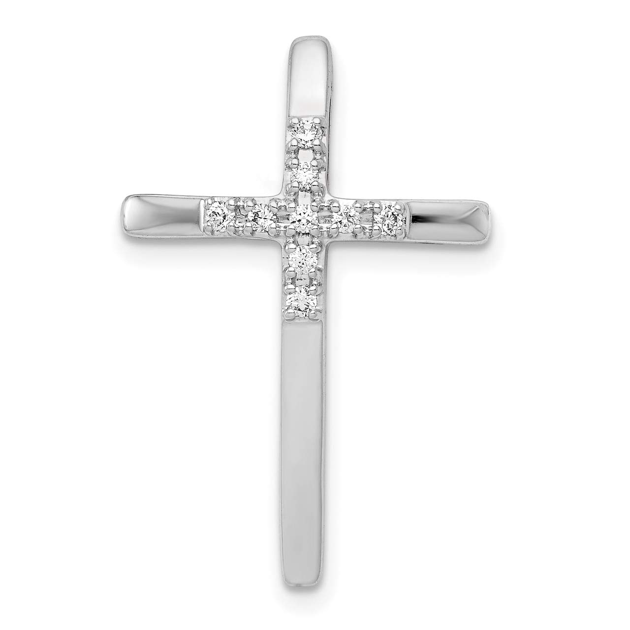 Lex /& Lu 14k Yellow Gold /& Rhodium Diamond Cross Pendant