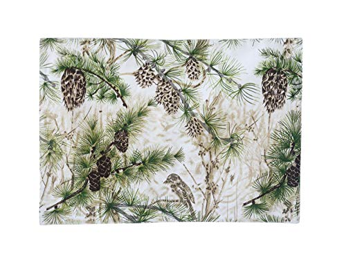 (Creative Co-Op Cotton Placemat with Pinecones)