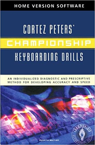 Championship Keyboarding Drills Home Version Software w// User/'s Guide