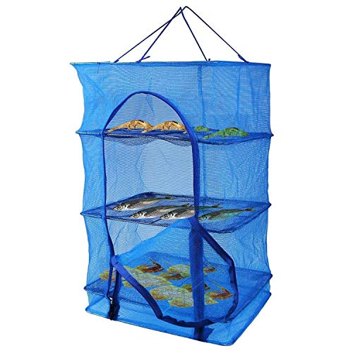 Fish Mesh Hanging Drying Net Food Dehydrator - Durable Foldi