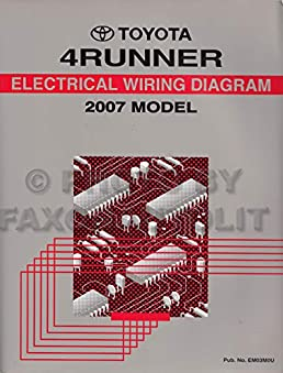 2007 toyota 4runner wiring diagram manual original toyota amazon2007 toyota 4runner wiring diagram manual original toyota amazon com books