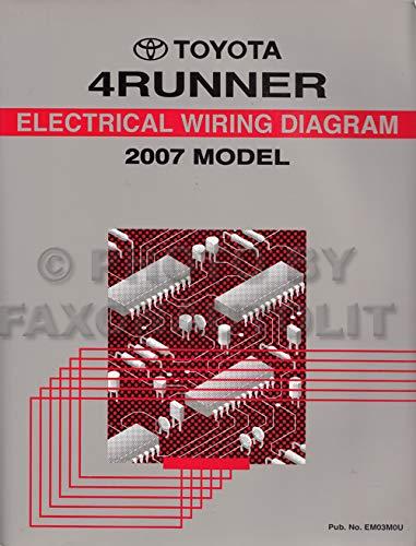 2007 Toyota 4Runner Wiring Diagram Manual Original: Toyota: Amazon.com:  BooksAmazon.com