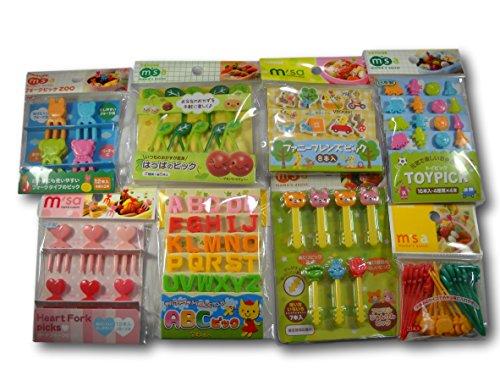 Torune Mama/'s assist Food Picks Bento Lunch Accessories Picks 8-Piece Sea A...