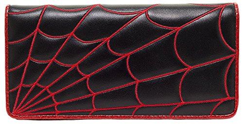 sourpuss-spiderweb-wallet-black-red