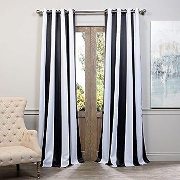 Amazon Com Lush Decor Wilbur Stripe Room Darkening Window