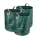 Hyindoor 3-Pack 120L Garden Waste Bags Leaves Grass Waste Bag with Handles Heavy Duty Large Refuse Sacks