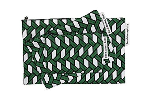 Raffia Green Cotton Pouch
