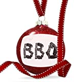 Christmas Decoration BBQ Coal Grill Fire Place Ornament