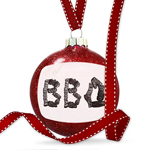 Christmas Decoration BBQ Coal Grill Fire Place Ornament by NEONBLOND