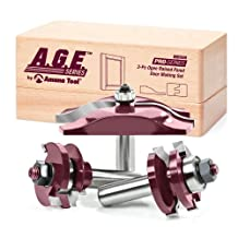 A.G.E. Series by Amana Tool MD500 Ogee Raised Panel Door Making Carbide Tipped Router Bit Set, 1/2-Inch Shank, 3-Piece