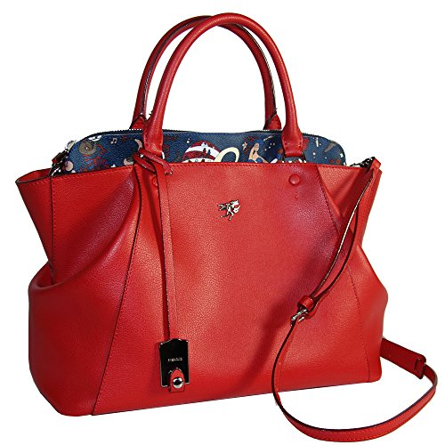 Piero Guidi borsa donna a mano bauletto con tracolla Magic Circus Leather rossa 216631082.74