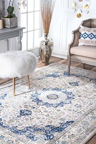 nuLOOM 200RZBD07A Traditional Persian Fancy Verona Area Rug, 12' x 15' , Blue - 12x15 Area Rug