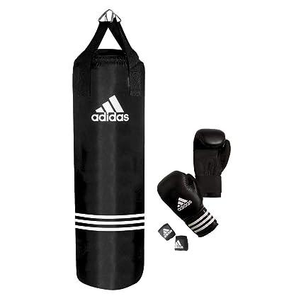 huge selection of a7526 b9437 adidas - Set de boxeo (guantes + saco), color negro