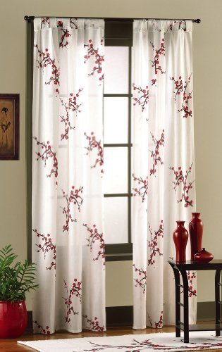 Asian Bedroom Cherry Blossom Curtain Panel Set By Collections Etc