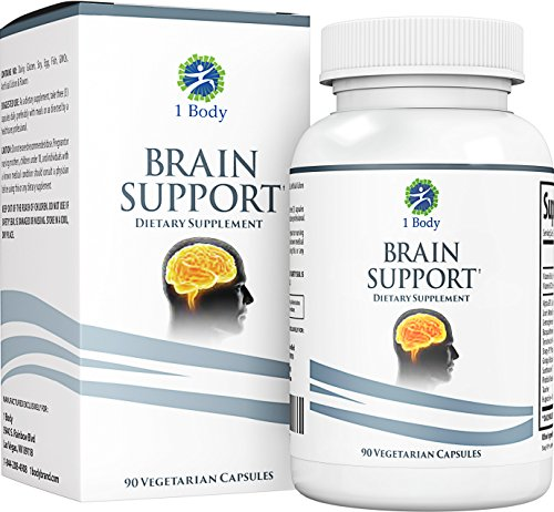 Support Healthy Brain Function with Nootropics, Improve Memory & Boost Focus - Alpha GPC, Lion's Mane Extract, Bacopa Monnieri, Phosphatidylserine, Ginkgo Biloba, Rhodiola Rosea, Huperzine A (Best Brain Vitamins For Adults)
