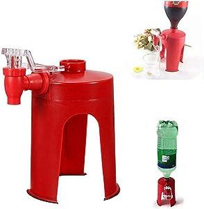 Creative Soda Dispenser Beverage Dispensers Tap Coke Drink Dispenser Water Dispense Party Bar Kitchen Gadgets Tap Drinking Water Dispense Bottle Upside Down Coke Drink Dispenser (Shape 2)