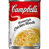 campbells chicken e - Campbell's Condensed Soup, Home Style Chicken Noodle, 10.5 Ounce (Pack of 12)