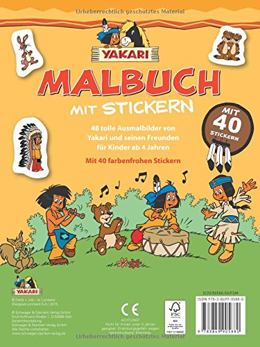 Yakari Malbuch Mit 40 Stickern Mit 40 Stickern Amazon Co