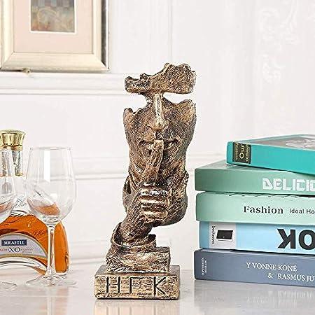 Estantería de vino Creativa Botellero, Europeo-estilo de la cara estante del vino artesanías de resina adecuados for la sala de estar casera de modelo de decoración de interior suave Decoración, latón