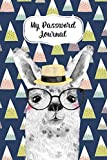 My Password Journal Password Keeper Book Fun Llama