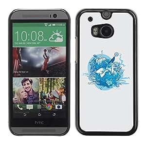 Paccase / SLIM PC / Aliminium Casa Carcasa Funda Case Cover para - Forrest Animals - HTC One M8