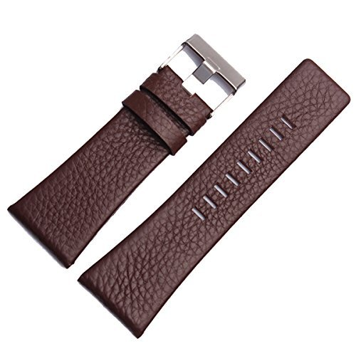 New 26mm Brown Leather Watch Band Strap Fit Diesel (Diesel Leather Strap Watch)