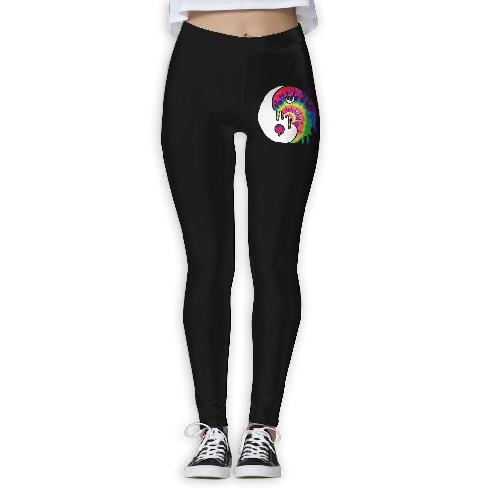 DDCYOGA Drippy Trippy Tie Dye Yin Yang Womens Tights Activewear Yoga Leggings Dance Athletic Sport Pants For Women