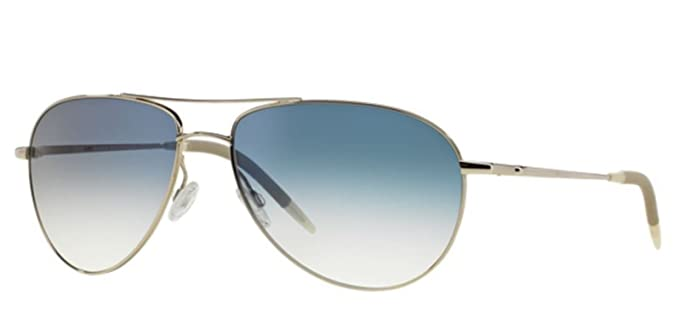 70405370ddc Image Unavailable. Image not available for. Color  New Oliver Peoples  Benedict OV 1002 S 52413F Silver Sunglasses