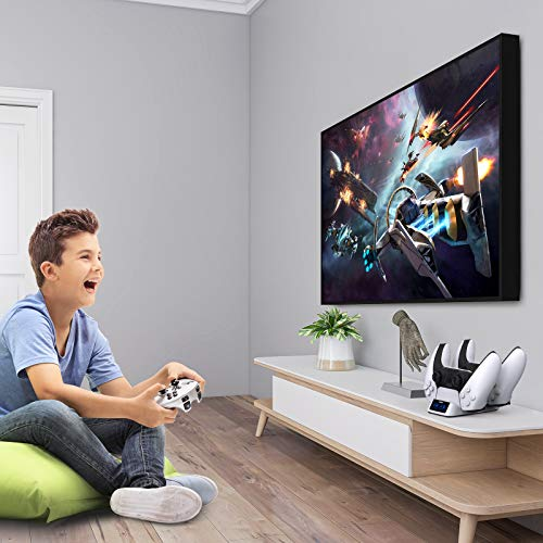 Gamory Controller Charger for PS5, Controller Charger Docking Station for Sony PS5, Dual USB Type C Fast Charging Station with LED Indicator, Safety Chip Protection
