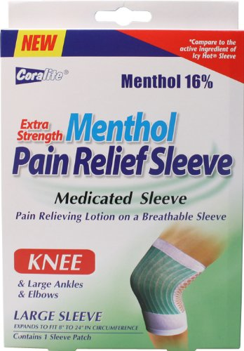 Extra Strength Menthol Pain Relief Knee Sleeve Bulk Case of 24 (Icy Hot Sleeve)