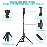 "Selfie Stick Tripod,54"" Extendable Camera Selfie"