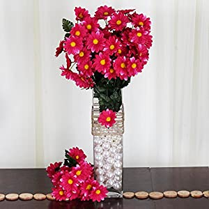 Efavormart 88 Artificial Gerbera Daisy Flowers for DIY Wedding Bouquets Centerpieces Party Home Decorations Wholesale - Fuchsia 58