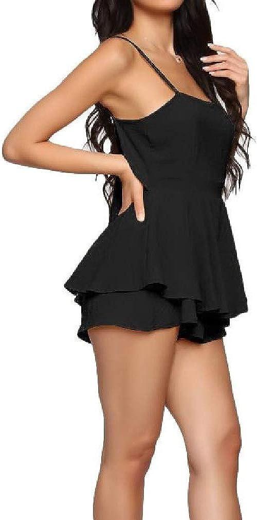 HEFASDM Women Overall Bodycon Backless Nightclub Styles Short Romper