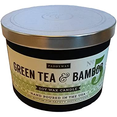 Paddywax No. 5 Green Tea & Bamboo 3-Wick 12 Oz. Soy Wax Candle