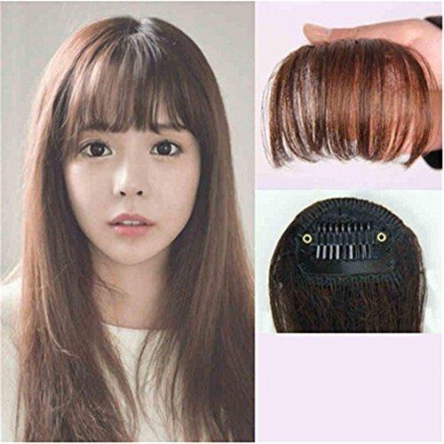 Backcomb Hair - Iumer Fashion Hair Clip in Bangs Fake Hair Extension False Hair Piece On Front