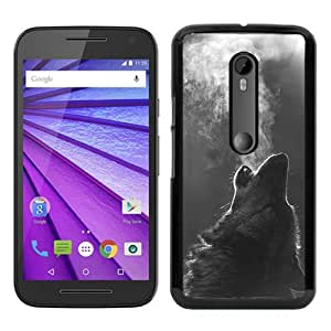 Winter Wolf Howling Black Recommended Picture Custom Motorola Moto G 3rd Generation Case