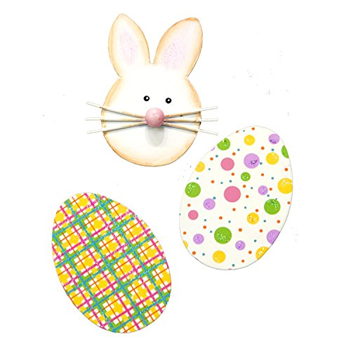 The Round Top Collection Plaid & Dot Egg Magnets, Set of 3/Metal