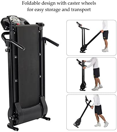 ZELUS Folding Treadmill for Home Gym, Portable Wheels, 750W Electric Foldable Running Cardio Machine with Cup Holder, Sports App Walking/Runners Exercise Equipment 6