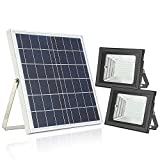 Solar Flood Light with Remote Control,Moresun 18W Dual 126 LEDs Lamp Solar Powered Flood Lights for Flag Pole Garden Lawn Patio Sign Driveway,Auto ON/Off